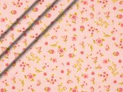 Reststück 0,90m - Bio-Baumwolle - Blumen - rosa - pink - grün