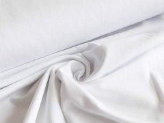 Reststück 0,85 m - BIO Jersey Single - weiß - einfarbig