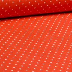 Baumwolle - Pinhead - weiße Punkte - Michael Miller - USA Designer - orange
