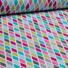 Baumwolle - Rhombus Rauten - Michael Miller - USA Designer - bunt