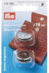 Magnetverschluss - 19mm - altmessing / silber - Prym