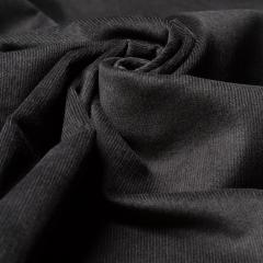 Feincord - Stretch - einfarbig - schwarz