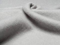 Reststück 0,50m - Merino Fleece - Bobby - meliert - hellgrau