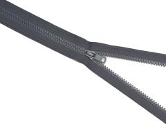 Reißverschluss YKK - schiefergrau - 25-80cm - teilbar