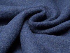Reststück 0,60m - Merino Fleece - Bobby - meliert - dunkelblau