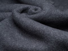 Merino Fleece - Bobby - meliert - anthrazit