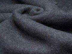 Merino Fleece - Bobby - meliert - anthrazit
