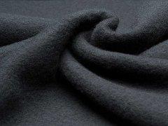 Reststück 0,95m - Merino Fleece - Bobby - schwarz