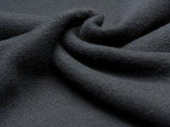 Merino Fleece - Bobby - schwarz - Reststück 0,80m