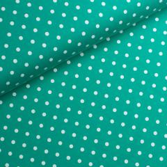 Jersey Single - Punkte - Tante Ema - grün - weiß