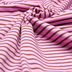 Jersey Single - Campan - Streifen - Hilco - rosa - braun