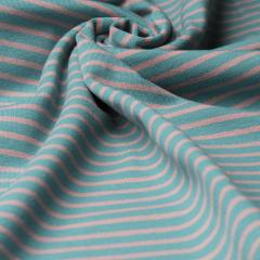 Reststück 0,60m - Jersey Single - Streifen - grün - rosa