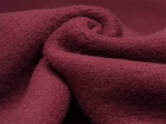 Reststück 0,80m - Merino Fleece - Bobby - aubergine