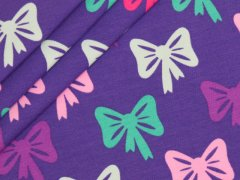 BIO Jersey Single - Bows - Rainbow Girls  - lila - EXKLUSIV DESIGN