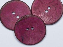 Knopf - Kokosnuss - 30mm - rund - pink