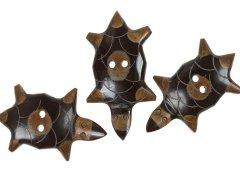 Knopf - Schildkröte - 50mm - Horn