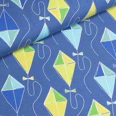 Jersey Single - Drachenflug - große Drachen - Blaubeerstern - blau