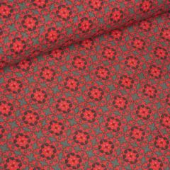 Feincord - Blumen - Stenzo - rot