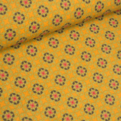 Feincord - Blumen - Stenzo - gelb