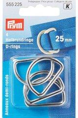 Halbrundringe - D-Ringe - 25 / 30mm - silberfarbig - Prym