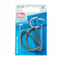 Halbrundringe - D-Ringe - 25/30/40mm - altmessing - Prym - BASE
