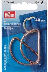 Halbrundringe - D-Ringe - 40mm - roségold - Prym