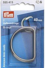Halbrundringe - D-Ringe - 25/30/40mm - silber - Prym