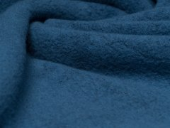 Reststück 0,85m - BIO Baumwoll Teddy - Albstoffe - blau