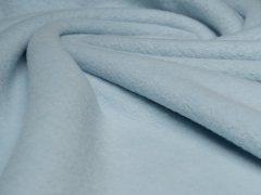 BIO Baumwoll Teddy - Albstoffe - hellblau - Reststück 0,40m