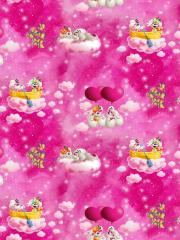 Jersey Single - Diddl - Herzballon - pink
