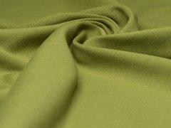 BIO Feinripp Jersey - Kim - oliv grün