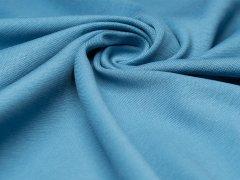 Reststück 1,20m - BIO Feinripp Jersey - Kim - blue shadow