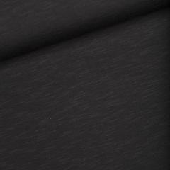 Jersey Single - Slub - schwarz