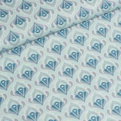 Popeline - Retro - Tante Ema - mint - blau - grau