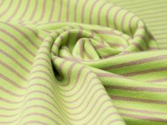 Jersey Single - Streifen - hellgrün - hellbraun