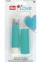 Nadel-Twister mit Magnet - Prym Love - mint - weiß