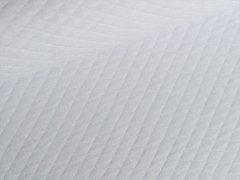 Reststück 0,65m - Baumwollstepp - weiß