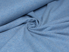 Jersey Single - uni - blau meliert