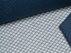 Jersey Jaquard - Stepp - dunkelblau - grau meliert