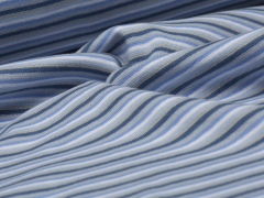 Bündchen Feinripp - Ringel - blau - weiß