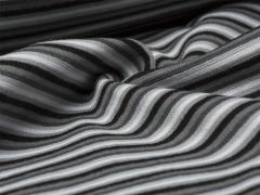 Bündchen Feinripp - Ringel - schwarz - grau - beige - weiß