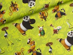 Jersey Single - Kung Fu Panda - Pandabär - grün