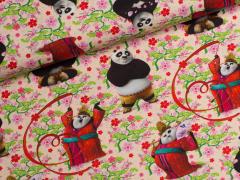 Jersey Single - Kung Fu Panda - Pandabär - rosa