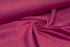 Jersey Single - uni - melange - fuchsia