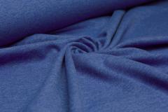 Jersey Single - uni - melange - royalblau