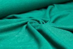 Jersey Single - uni - melange - flaschengrün