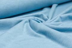 Jersey Single - uni - melange - hellblau
