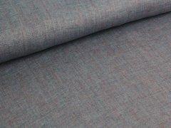 Reststück 0,85m - Jeansleinen - rose - blau