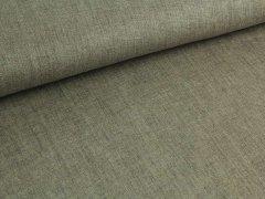 Reststück 0,5m - Jeansleinen - grau - beige