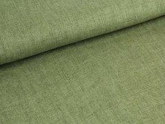 Reststück 0,90m - Jeansleinen - beige - grün